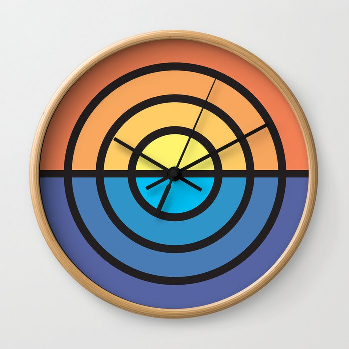 Stripe Sunset Wall Clock