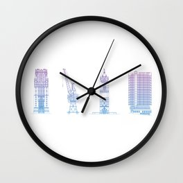 Bristol Architecture Wall Clock