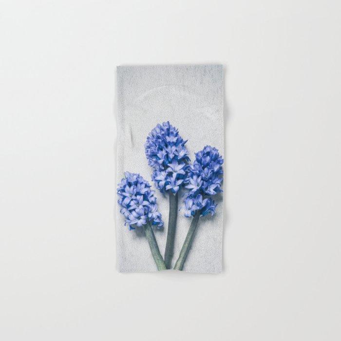 Three Blue Hyacinths Hand & Bath Towel
