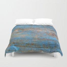 Blue Wood Grain Duvet Cover