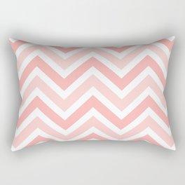 Geometrical mauve coral white modern chevron pattern Rectangular Pillow