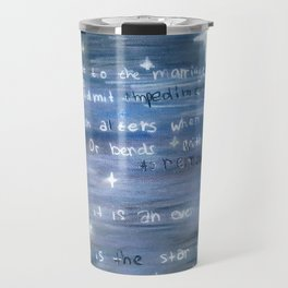 Love is an Ever Fixed Mark, It is the Star (Sonnet 116) Travel Mug