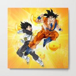Vegeta vs Goku Metal Print