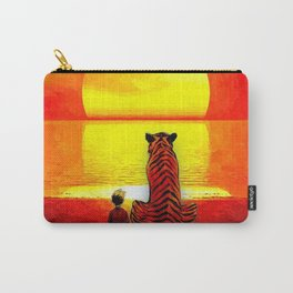 Calvin Hobbes Sunset Carry-All Pouch