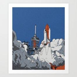 Last Launch Art Print