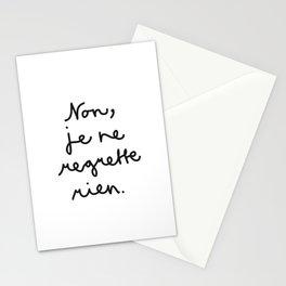 Non, je ne regrette rien Stationery Cards