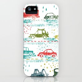 cars in the rain iPhone Case