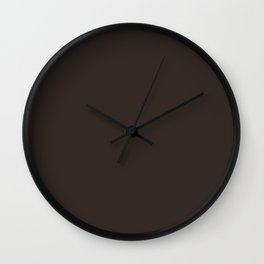Cocoa Brown - Solid Color Wall Clock