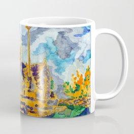 with a cat's company Coffee Mug