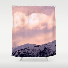 Kenai Mts Bathed in Serenity Rose Shower Curtain