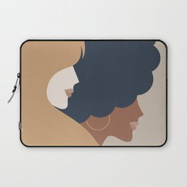 Girl Power portrait - we persist - Earthy #girlpower Laptop Sleeve