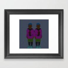 ☹ Bionic Twins ☹ Framed Art Print