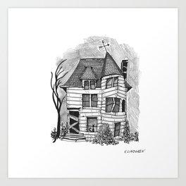Rundown Haunted House Art Print