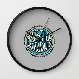Music, Black leather gloves, insurance, security and more.. Wall Clock