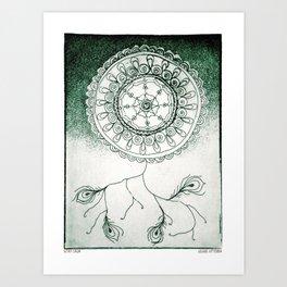 Stay Calm Green Art Print