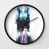 alcohol Wall Clocks featuring Alcohol dependence by laurensmorin