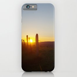 Walk in the evening iPhone Case