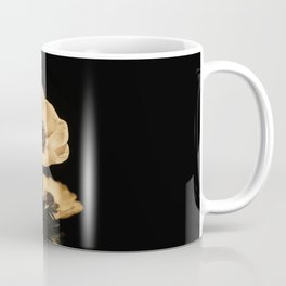 Anemone Flowers, Black with Golden Frame, Floral Nature Photography Coffee Mug