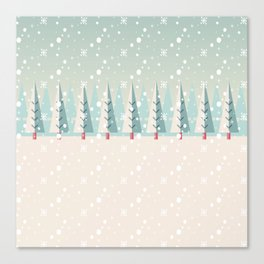 Festive Moments - Christmas woods Canvas Print