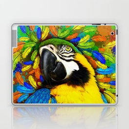 Gold and Blue Macaw Parrot Fantasy Laptop & iPad Skin