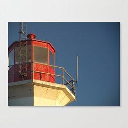 Lighthouse against a Blue Sky Canvas Print