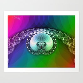 Diamond is for infinity Art Print