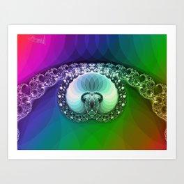 Diamond is for infinity Art Print