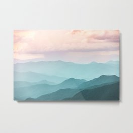 Smoky Mountain National Park Sunset Layers II - Nature Photography Metal Print
