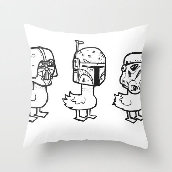 Star Wars Ducks  Throw Pillow