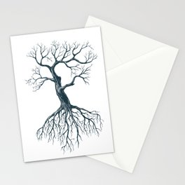 Tree without leaves Stationery Cards