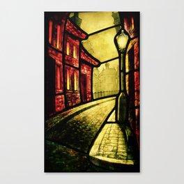 Lamplight Street Canvas Print