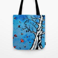 Fall Heart Tree Tote Bag