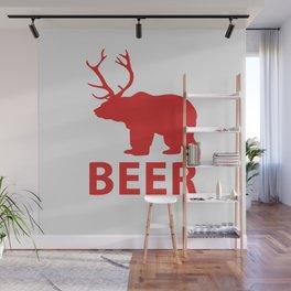 Bear + Deer = Beer Wall Mural