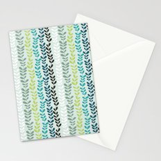 Blue and mint floral Stationery Cards