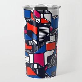 Geometric city pop art Travel Mug