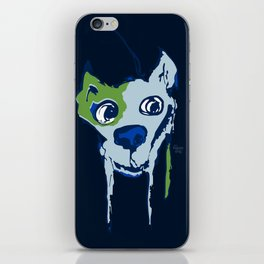 Anton - blue and lime iPhone Skin