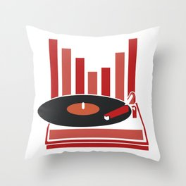 Love Vinyl Throw Pillow