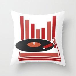 Love Vinyl Throw Pillow
