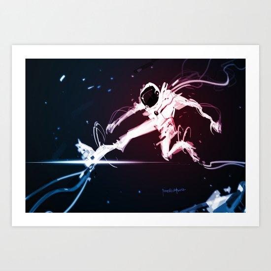 Gravity Core 2 Art Print