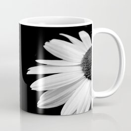Half Daisy in Black and White Coffee Mug