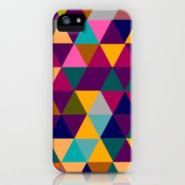 Multicolor triangle shapes pattern iPhone Case
