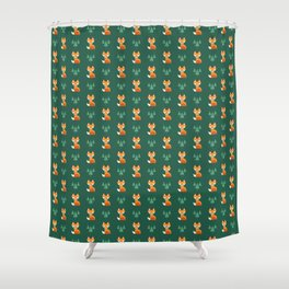 Geometric Foxes Shower Curtain