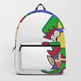 Christmas elf pole Help Children Gift Backpack