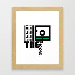 Feel The Record Framed Art Print