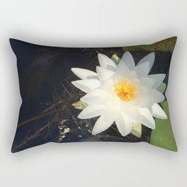 Naturals by Nikki - White Water Lily (open) Rectangular Pillow
