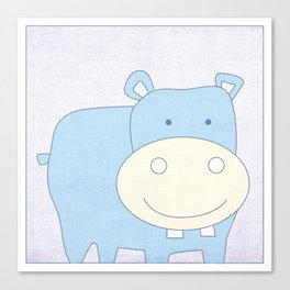 Baby Hippo Jungle Series Print Canvas Print