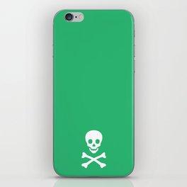 GREEN & WHITE SKULL iPhone Skin