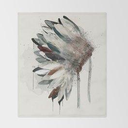 native headdress Throw Blanket