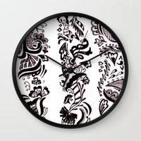 henna Wall Clocks featuring Henna  by apratt