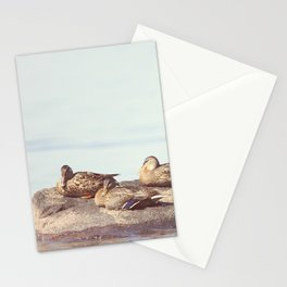 Lazy ducks Stationery Cards